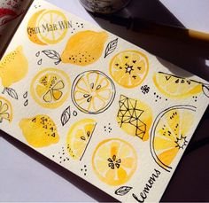 Illustrator who thinks about food and patterns. For licensing enquiries contact my agent We are exhibiting at Surtex booth 235 Illustrator who thinks about food and patterns. For licensing enquiries contact my agent We are exhibiting at Surtex booth 235 Painting Inspiration, Art Inspo, Painting & Drawing, Watercolor Paintings, Food Drawing, Drawing Ideas, Sketch Ideas, Fruits Drawing, Art Sketches