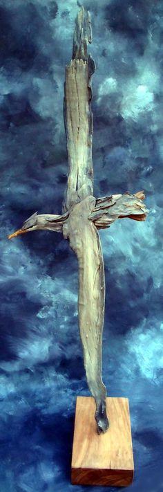 Driftwood Royal Albetross by Tony Fredriksson openskywoodart.com