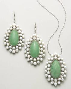 Jade drop earrings make life a bit more precious