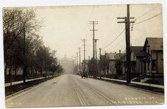 MANISTEE,MICHIGAN,MANISTEE COUNTY,SIBBEN STREET,PRE 1915 AZO RPPC
