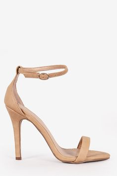 ITEM #: 00406 This lovely heel features a smooth nubuck upper, open toe silhouette, wrapped stiletto heel, and adjustable ankle strap with buckle fastening. Finished with lightly padded insole for com