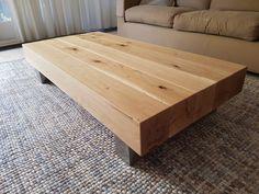 Mijnmeubel.com heeft deze salontafel op maat gemaakt! Blad is gemaakt van massief eiken balken 15x15cm. Het onderstel is opgebouwd uit geborsteld rvs wat een strak eindresultaat geeft! Ook op zoek naar een balkentafel? Bezoek dan snel onze site! Site, Rvs, Table, Furniture, Home Decor, Decoration Home, Room Decor, Tables, Home Furnishings