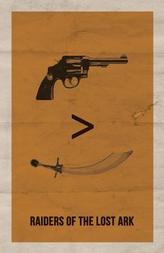 This is pretty cool too: Raiders of the Lost Ark Minimalist Poster. $15.00, via Etsy.