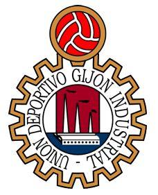1969, UD Gijón Industrial (Gijón, Asturias, España) #UDGijónIndustrial #Gijón #Asturias (L18833) Asturias Spain, Branding Design, Logo Design, Football Team Logos, Sports Clubs, Sports Logo, Chicago Cubs Logo, Soccer, Industrial