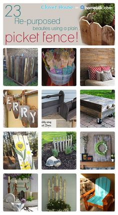 Don't throw out that old picket fence! Here are 23 great ways to use it!