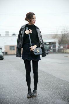 what-do-i-wear: Mango premium leather jacket with Zara jumper,...