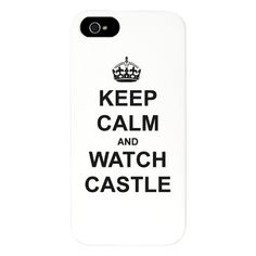 """Keep Calm And Watch Castle"" iPhone 5 Case Castle TV show  $24.50"