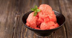 Watermelon sorbet by Greek chef Akis Petretzikis. Try this quick and easy recipe to make the juiciest most refreshing, delicious sorbet with fresh watermelon! Watermelon Sorbet Recipes, Love Is Sweet, Vegan Desserts, Quick Easy Meals, Food For Thought, Sweet Recipes, Food To Make, Raspberry, Favorite Recipes