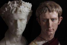 Recreated Roman emperors - Julius Caesar, Nero and Octavian by the project Cesares de Romas. Julius Caesar, Ancient Rome, Ancient History, European History, Ancient Aliens, Ancient Greece, American History, Roman Sculpture, Roman History