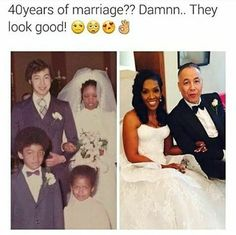 "I looked at the right pic thinking ""oh she must have married this guy for the money"" but it's the same woman wtf WHEN ARE YOU GOING TO AGE"