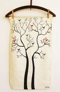 Lana Red Studio: Tea Towel DIY. I really love these.