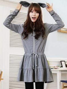 funny bunny dress $47 #asianicandy #koreanfashion #kawaii
