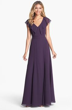 Jenny Yoo 'Cecilia' Ruffled Chiffon Long Dress (Online Only) | Nordstrom