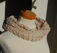 Stolen - Lace Tuch aus LEINEN beige - Schal, gestrickt - ein Designerstück von HansensGasse bei DaWanda