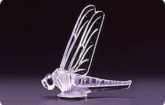 lalique large dragonfly car mascot