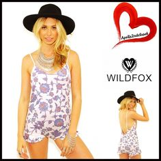 """WILDFOX Romper Playsuit 💟NEW WITH TAGS💟 Retail: $118  WILDFOX Ruffle Romper  * Adjustable thin straps & V-neck front  * Ruffle trim detail   * A stretch-to-fit and pull-on style  * It measures about 27"""" long, w/a approx. 2.5"""" inseam  * Allover print w/a subtly 'washed' look   Fabric: 100% Rayon  Color: Multi Patterned Floral Print  Item#WF93100 # Pastel Playsuit  🚫No Trades🚫 ✅ Offers Considered*✅  *Please use the blue 'offer' button to submit an offer. Wildfox Dresses Mini"""