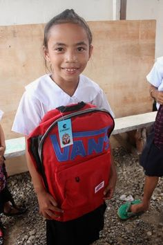 Marjorie is an orphan and supported by HHC Slums, School Supplies, Van, Backpacks, Orphan, Children, School Stuff, Young Children, Boys