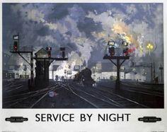 British Vintage Train Poster