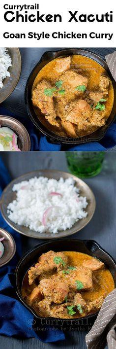 Chicken Xacuti Healthy Curry Recipe, Healthy Indian Recipes, Indian Chicken Recipes, Grilled Chicken Recipes, Curry Recipes, Asian Recipes, Curry Spices, Indian Dishes, Yum Yum Chicken