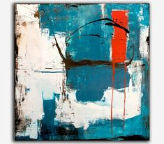 Abstract 48x48 canvas Painting by Erin Ashley