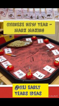 Chinese new year mark making Chinese New Year Activities, Chinese New Year Crafts, New Years Activities, Activities For Kids, Creative Activities, Activity Ideas, Preschool Ideas, Tuff Spot, Eyfs Activities