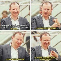 Mark Gatiss being amazing as always!!!