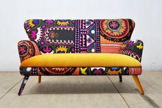 Patchwork Sofa  sweet honey