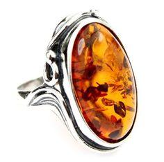 SilverAmber Lovely Baltic Amber  &  925 Sterling Silver Designer Ring Lovely Baltic Amber  &  925 Sterling Silver Designer Ring AB400K