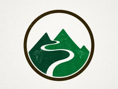 The use of two different greens evenly divides the illustration onto two parts making the design visually interesting The use of shape to represent depth creates movement within the design the mountain shape has an organic elements as the lines aren't exactly straight this allows for a more natural feel to the design