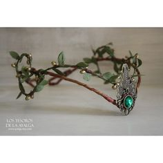Woodland elf tiara elven headpiece fairy crown ($35) ❤ liked on Polyvore featuring accessories, hair accessories, lace hair accessories, lace tiara, tiara crown, crown hair accessories and crown tiara