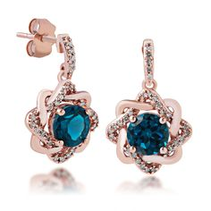 Product Name : Impulse Collection London Blue Topaz and Diamond Earrings - EF476155  Price : $ 299.00