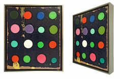 """John Randall Nelson, """"Polka Dots No. 41"""", 15 x 13 x 2 inches, Mixed media on aluminum panel"""