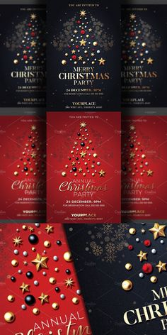 Club Flyers, Christmas Invitations