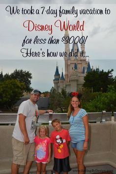 Does the thought of taking a family vacation to Walt Disney World seem impossible for your budget? I used to think the same thing. Having just taken our first family trip to Disney, I'm now happy to say that it really is possible to travel to Walt Disney World Resort for under $3000!