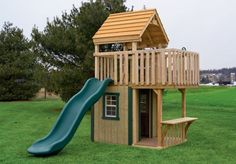 Image detail for -Play Set Trading Post | Wood childrens outdoor playset (swing set ...