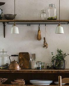 Cheap Home Decor .Cheap Home Decor Industrial Style Kitchen, Rustic Kitchen Design, Rustic Design, Industrial Design, Vintage Industrial, Kitchen Wood, Kitchen Layout, Kitchen Ideas, Kitchen Cabinets