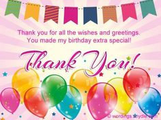 Birthday Thank You Wishes For Myself Happy Images