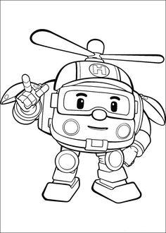 Dibujos para Colorear Robocar Poly 12