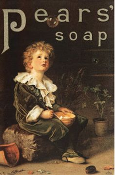 Poster for Pears' Soap. The Victorian age was a new era for commercialism and advertising.