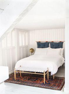 DIY headboard // bedroom before & after // sarah sherman samuel