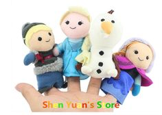Frozen Finger Puppet Frozen Anna Else Kristoff Olaf Finger Dolls Stuffed Toys Baby Toys  Plush 4pcs/set part  Free shipping-in Puppets from ...
