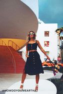 Sweet as Ever Black Two-Piece Midi Dress 6