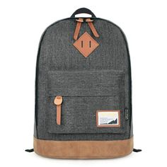 Hotstyle Classical Vintage College School Laptop Backpack Bag Pack Super Cute for School (Dark Grey)  - Click image twice for more info - See a larger selection of little boys  backpacks at http://kidsbackpackstore.com/product-category/boys/- kids, juniors, back to school, kids fashion ideas, school supplies, backpack, bag , teenagers,  boys, gift ideas