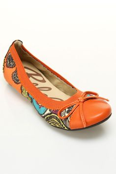 Rebels Pandora Ballet Flats In Orange And Turquoise - Beyond the Rack