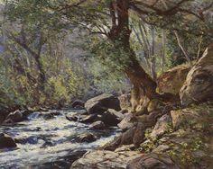 William Wendt Stream oil on canvas