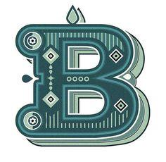 Typography :: Letter B - by Jonny Wan