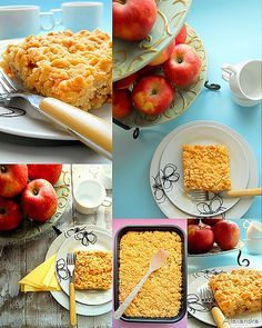 Apple pie with shredded apple Baby Cooking, Apple Chips, Pie Cake, Coffee Cake, Easy Desserts, Food Styling, Sweet Recipes, Sweet Treats, Food And Drink