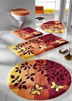 Luxury Bathroom Rugs and Mats