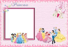Tarjetas de las Princesas de Disney para personalizar7