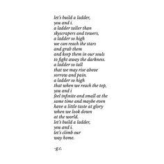a ladder. // Gaby Comprés